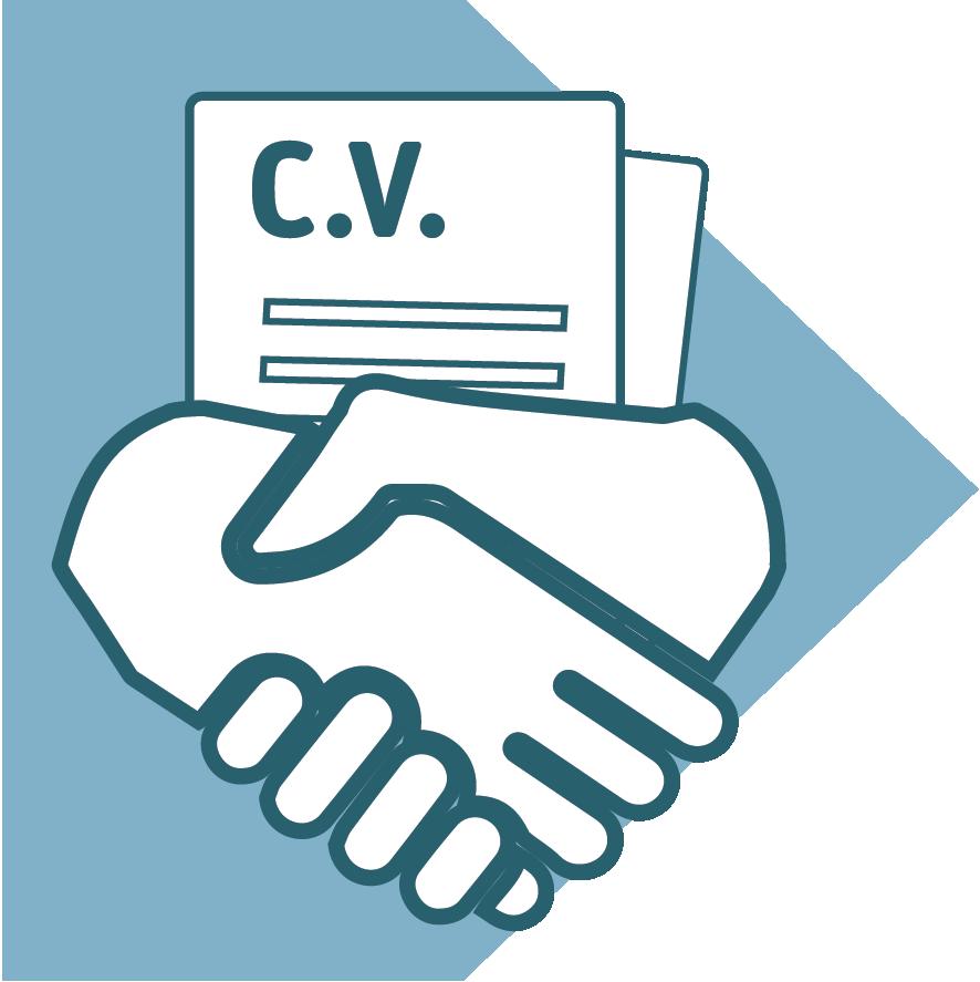 CV met 2 handen