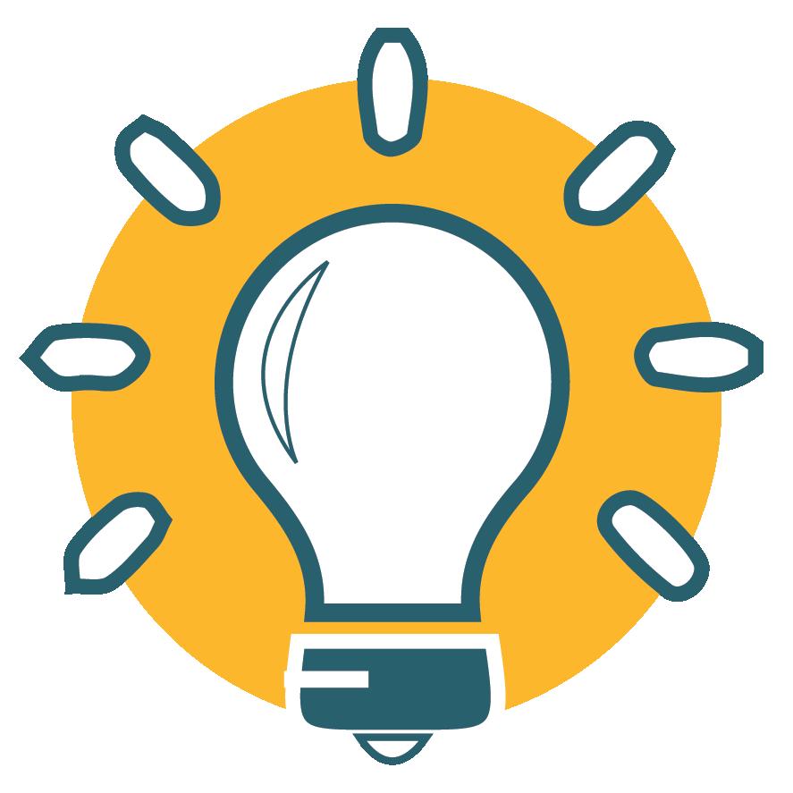 lampje dat wijst op een tip of een idee